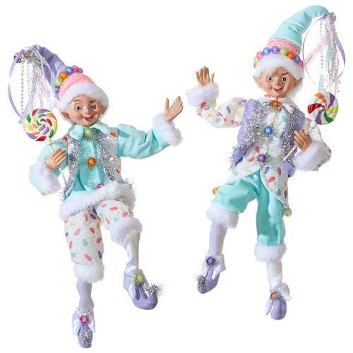 Trendy Christmas elves for Christmas decorating with a twist.