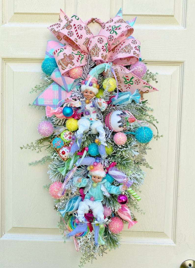Christmas Tree Decorations Candy Theme  from www.timelessfloralboutique.com