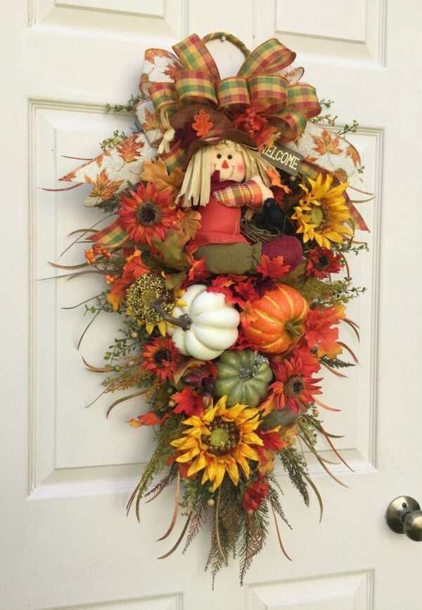 Fall Scarecrow Wreath Swag